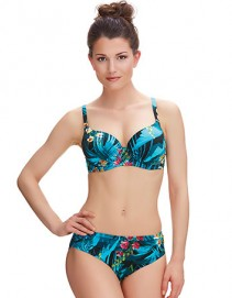 Fantasie Seychelles Mid Rise Gathered Bikini Brief